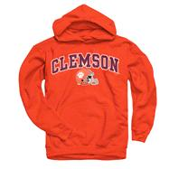 Clemson Tigers Youth Orange Football Helmet Hooded Sweatshirt