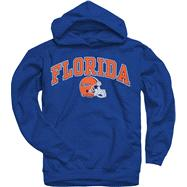Florida Gators Youth Royal Football Helmet Hooded Sweatshirt