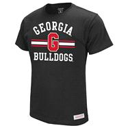 Georgia Bulldogs Black Mitchell & Ness Extra Point T-Shirt