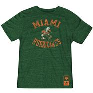Miami Hurricanes Green Gym Class adidas Originals Tri-Blend Vintage Tee