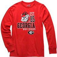 Georgia Bulldogs Red Double Reverse Long Sleeve Slub Knit T-Shirt