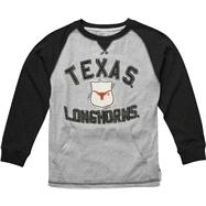 Texas Longhorns Youth Grey Pouch Pocket Vintage Crewneck Sweatshirt