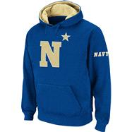 Navy Midshipmen Big Logo Tackle Twill Hooded Sweatshirt