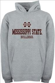 Mississippi State Bulldogs Youth Grey Tackle Twill Hooded Sweatshirt