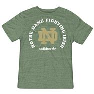 Notre Dame Fighting Irish Heathered Green adidas Halfway Round Tri-Blend T-Shirt