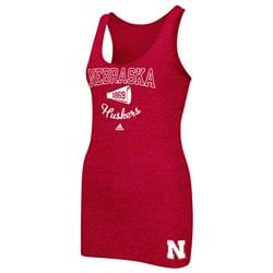 Nebraska Cornhuskers adidas Women's Megafan Tri-Blend Tank Top