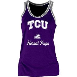TCU Horned Frogs Women's Double Ringer Tri-Blend Tank Top