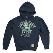 Notre Dame Fighting Irish Navy Original Retro Brand Vintage Hooded Sweatshirt