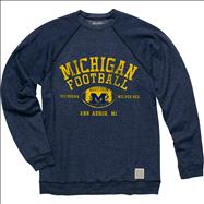 Michigan Wolverines Original Retro Brand Football Super Soft Crewneck Sweatshirt