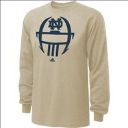 Notre Dame Fighting Irish adidas 2012 Football Sideline Helmet Long Sleeve T-Shirt - Old Gold