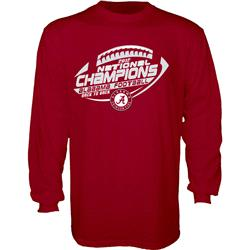 Alabama Crimson Tide 2012 BCS National Champions Back-to-Back Richer Long Sleeve T-Shirt - Cardinal