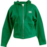 Michigan Wolverines Kelly Green Women's Hoody