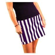 Women's Purple/White Fitted Skirt