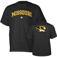 Missouri Tigers adidas Black Relentless T-Shirt