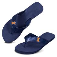 Illinois Fighting Illini Women's Sequin Strap Flip Flops