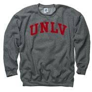 UNLV Runnin Rebels Dark Heather Arch Crewneck Sweatshirt