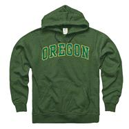 Oregon Ducks Heather Dark Green Tradition Ring Spun Hooded Sweatshirt