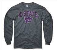 Kansas State Wildcats Dark Heather Perennial II Long Sleeve T-Shirt