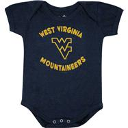 West Virginia Mountaineers Newborn / Infant Navy Start Em' Young Creeper