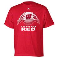 Wisconsin Badgers Red adidas Basketball Go Red T-Shirt