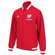 Wisconsin Badgers Red adidas 2012 Football Sideline Transition Full-Zip Jacket