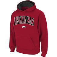 Arkansas Razorbacks Cardinal Twill Arch Hooded Sweatshirt