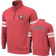 Georgia Bulldogs Red Flex 1/4 Zip Fleece Sweatshirt