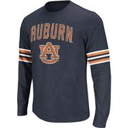 Auburn Tigers Navy Tackle Long Sleeve Slub Knit T-Shirt