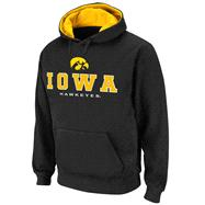 Iowa Hawkeyes Black Twill Halftime Hooded Sweatshirt
