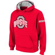 Ohio State Buckeyes Red Twill Pep Rally Hooded Sweatshirt