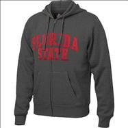 Florida State Seminoles Charcoal Twill Arch Full-Zip Hooded Sweatshirt