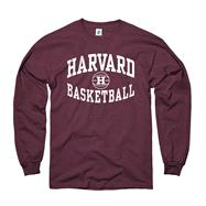 Harvard Crimson Crimson Reversal Basketball Long Sleeve T-Shirt