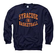 Syracuse Orange Navy Reversal Basketball Crewneck Sweatshirt