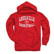 Louisville Cardinals Red Reversal Basketball Hooded Sweatshirt