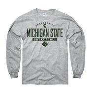 Michigan State Spartans Grey Property of Basketball Long Sleeve T-Shirt
