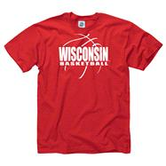 Wisconsin Badgers Red Primetime Basketball T-Shirt
