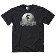 Michigan State Spartans Black Spirit Basketball T-Shirt