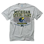 Michigan Wolverines Grey Spring Football Game T-Shirts