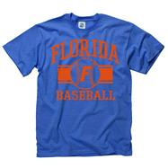 Florida Gators Royal Wide Stripe Baseball T-Shirt