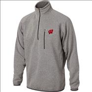 Wisconsin Badgers Marled Grey  1/2 Zip Sweater Jacket