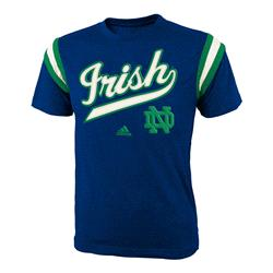 Notre Dame Fighting Irish Navy adidas Youth Heathered Vintage Jersey T-Shirt