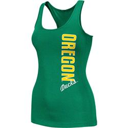 Oregon Ducks Green Women's Essential Fitness Tank Top