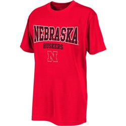 Nebraska Cornhuskers Red Youth Scoreboard T-Shirt