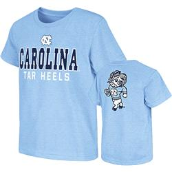 North Carolina Tar Heels Light Blue Kids 4-7 Platform Dual-Blend T-Shirt