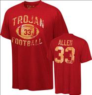 USC Trojans Cardinal Legend Marcus Allen Commemorative #33 Distressed Practice T-Shirt