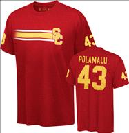 USC Trojans Cardinal Legend Troy Polamalu Commemorative #43 Team Issue T-Shirt