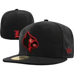 Louisville Cardinals New Era Black Pop 59FIFTY Fitted Hat