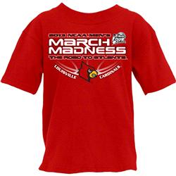 Louisville Cardinals Youth 2013 NCAA March Madness Underside T-Shirt
