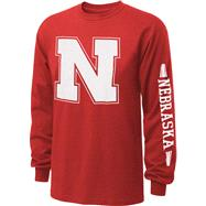 Nebraska Cornhuskers Red Power to the People Long Sleeve T-Shirt
