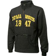 Iowa Hawkeyes Charcoal Collegiate Crush 1/4 Zip Fleece Sweatshirt